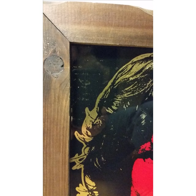 1970 Jim Morrison Reverse Painting on Glass - Image 3 of 5