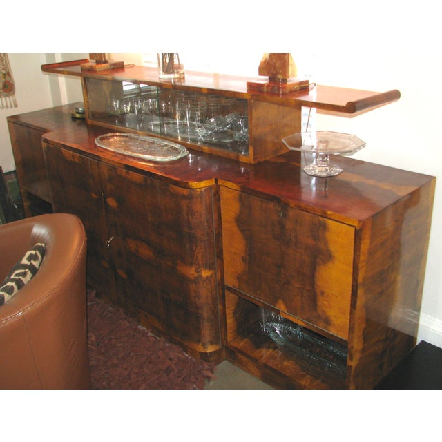 French Art Deco 2-Tiered Paldao Burlwood Sideboard - Image 3 of 11