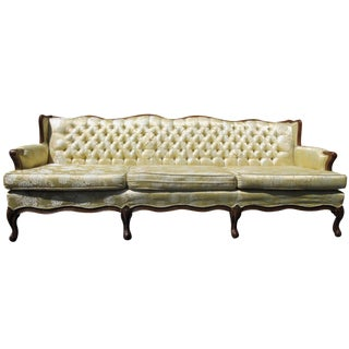 French-Style Yellow Rose Sofa