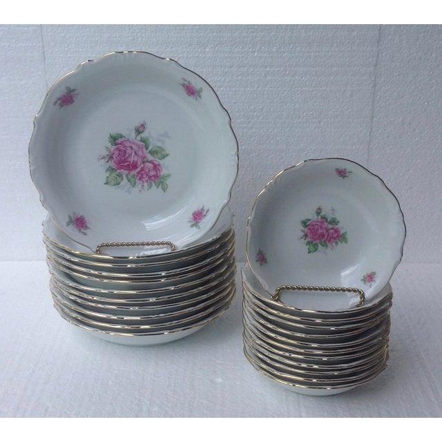 Bavarian Pink Rose China Set - Set of 84 - Image 6 of 8