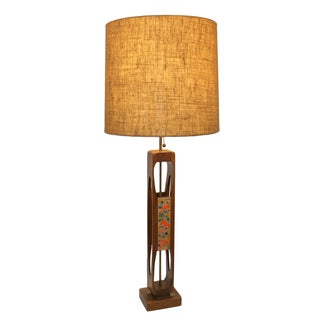 Monumental Teak Table Lamp, Modeline of Cali.