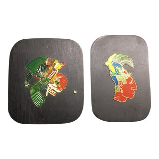 Twin Incan Artwork Plaques