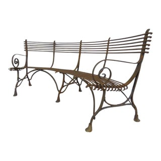 Vintage Arras Factory Circular Bench