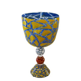 "Colorful Oversized Goblet by the ""Becks"""