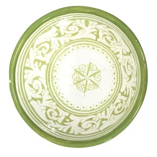 Moroccan Hand-Painted Lime Ceramic Bowl