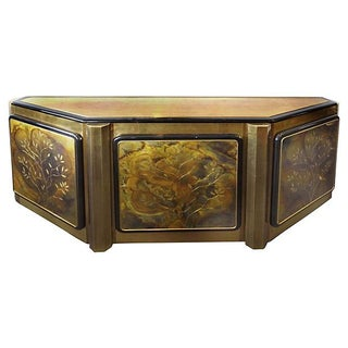 Mastercraft Brass Cabinet with Tree Design