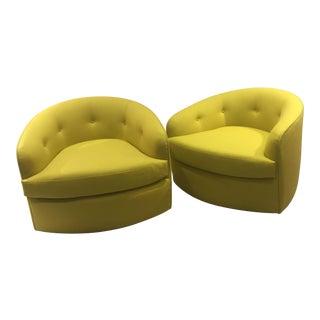 Milo Baughman Tilt Swivel Club Chairs - A Pair