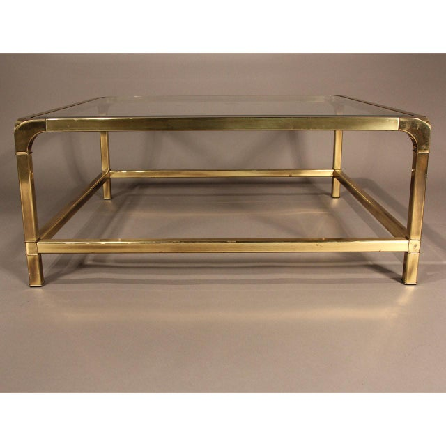 Mastercraft Brass and Glass Coffee Table - Image 8 of 10