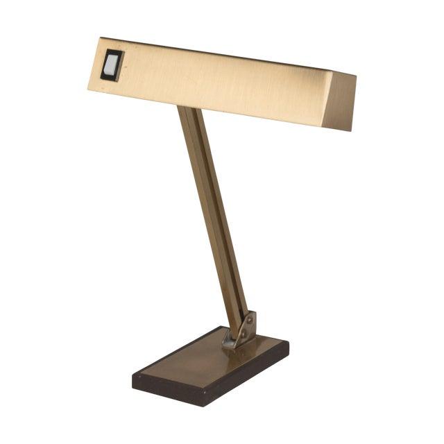 Vintage German 1960s Bronze Pivoting Desk Lamp - Image 1 of 10