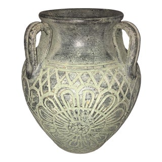 Antique Bronze Ceramic Jug