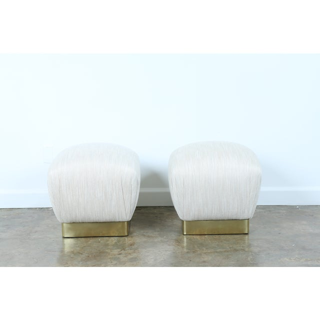 Karl Springer Soufflé Ottomans - A Pair - Image 4 of 10
