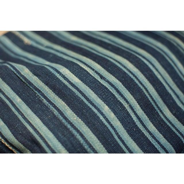 African Indigo Blue Striped Throw - Image 4 of 4