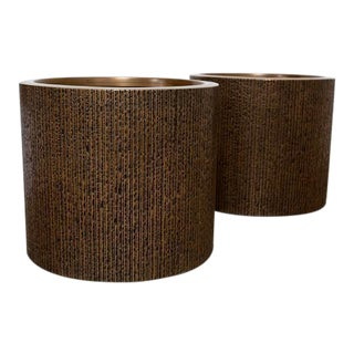 Large Pair of Sculptural Planters by Forms and Surfaces