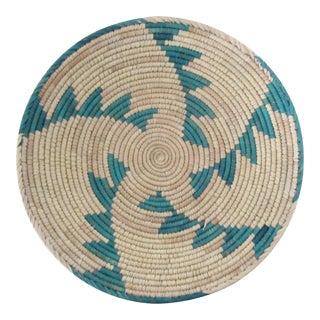 Turquoise Stair Pattern Basket