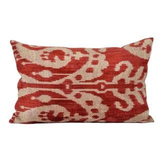 "Hand Soft ""Spice"" Silk Velvet Ikat Pillow"