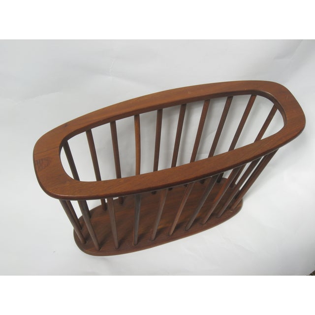 Mid Century Walnut Magazine Rack - Image 3 of 4