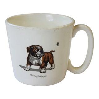 Edwin Megargee Signed Bulldog & Bumblebee Mug
