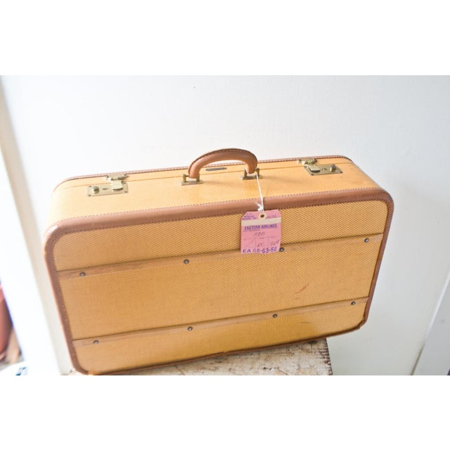 1950s Vintage Komfy Travel Suitcase Yellow Large - Image 2 of 6