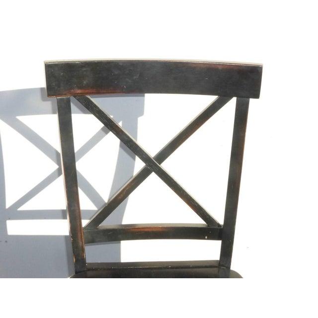 Black Modern Wood Bar Stools - Set of 4 - Image 9 of 11
