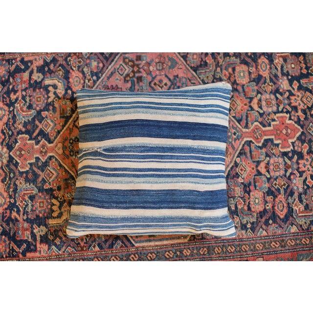 Striped Indigo Throw Pillow - Image 2 of 6
