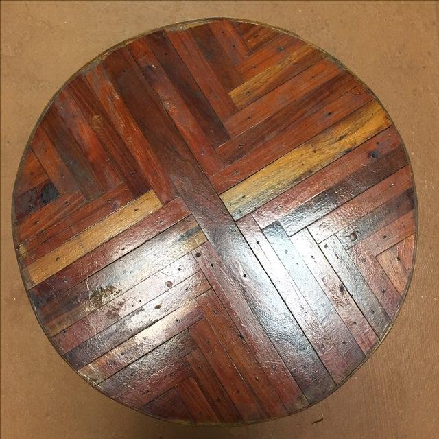 Image of Herringbone Wood Side Table
