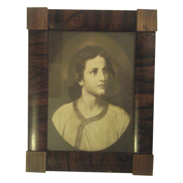 1910 Antique Rosewood Frame with Print - Image 1 of 8