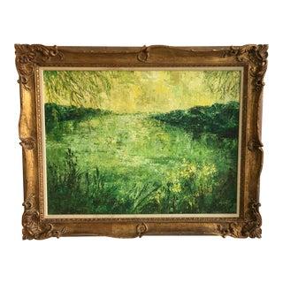 Original Green Landscape Oil Painting