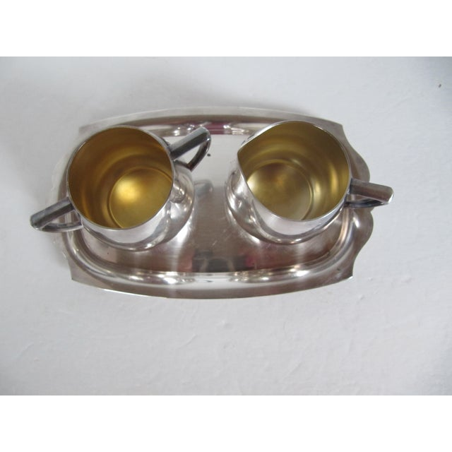 Image of Empire Crafts Silver Plate Serving Set - Set of 3