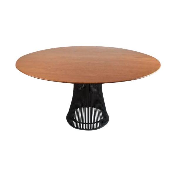 Warren Platner for Knoll Bronze and Teak Table - Image 1 of 8