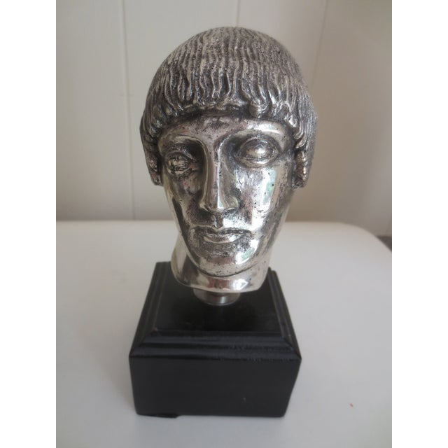 Image of 1960's Italian Sterling Clad Bookend Busts - 2