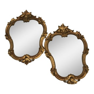 Gold Gilt Mirrors - A Pair