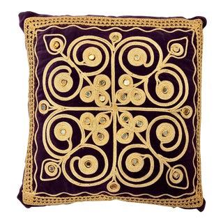 Turkish Purple Velvet Mirror Pillow