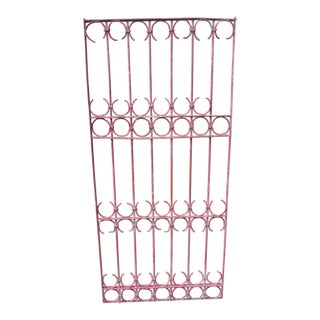 Antique Victorian Pink Iron Gate or Garden Fence