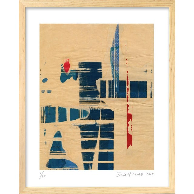 "Modern ""Red Meets Blue"" #8 Framed Print - Image 1 of 4"
