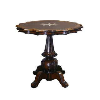 Antique Star Shape Marble Wood MIX Pedestial Table