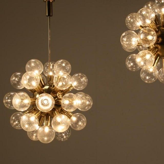 Several Robert Haussmann Brass Sputnik Pendants Holding Twenty Eight Bulbs - Image 4 of 10