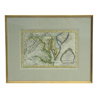 """Carte De La Virginia De La Chesapeake Bay"" 1757 Map"