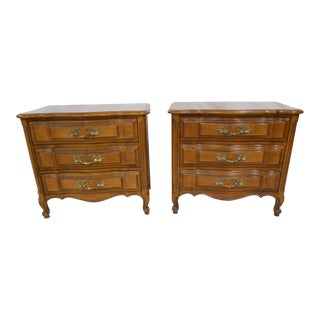 Continental French Style Nightstands - A Pair