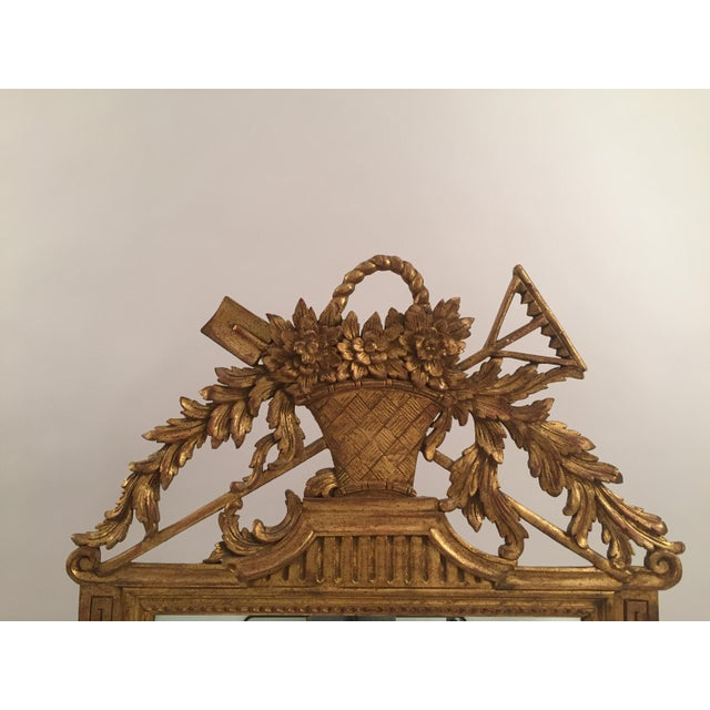 Neoclassical Gold Leaf Mirror - Image 6 of 11