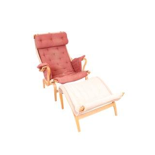 """Bruno Mathsson """"Pernilla"""" Chair/Ottoman"""
