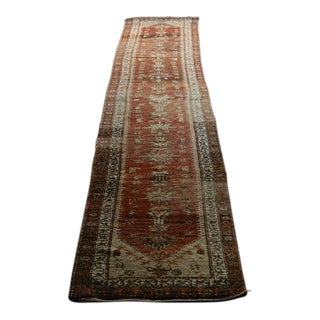 "Antique Anatolian Herki Runner Rug - 35"" x 202"""