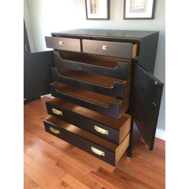 Black Solid Wood Dresser Tallboy Chest - Image 4 of 9