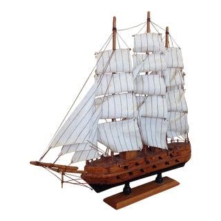 Vintage Miniature 3 Master Sailboat