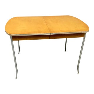 Vintage John M Smyth Wood & Chrome Table