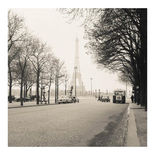 Vintage 1950s Limited Edition Black and White Paris Eiffel Tower Photograph