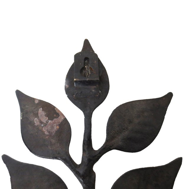 Leaf Candle Sconces - A Pair - Image 6 of 6
