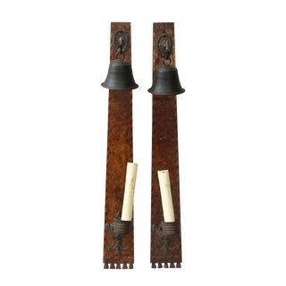 Arts & Crafts Style Bell Candle Sconces - A Pair