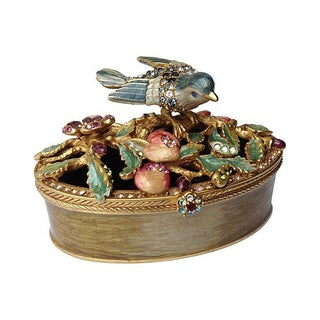 Jay Strongwater Bejeweled Bird Trinket Box
