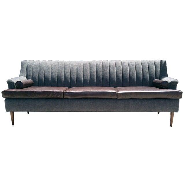 Custom Channel Back Sofa - Image 2 of 3
