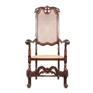 Antique 1910 Beechwood Armchair